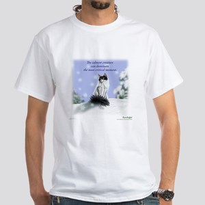 Excellent calm skogkatt White T-Shirt