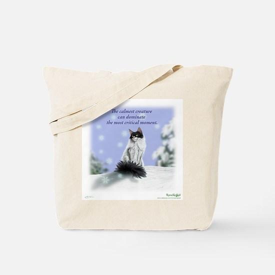 Excellent calm skogkatt Tote Bag