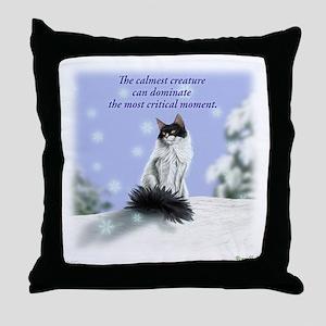 Excellent calm skogkatt Throw Pillow