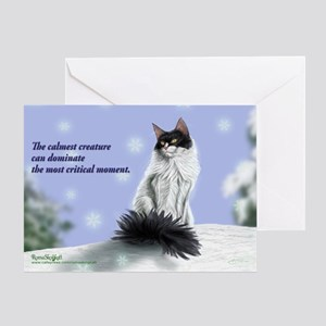Excellent calm skogkatt Greeting Card