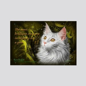 Beautiful mystery cat Rectangle Magnet