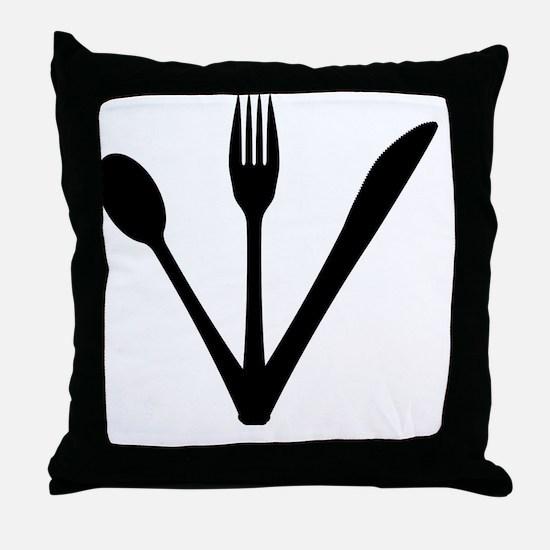 Food service Throw Pillow