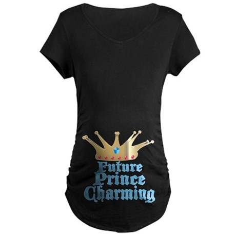 Future Prince Charming Maternity Dark T-Shirt