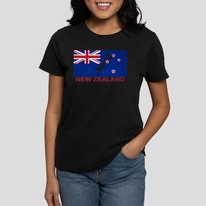 New Zealand Flag (labeled) T-Shirt