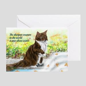 Wonderful sharp skogkatt Greeting Card