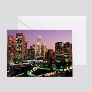 Los Angeles Night Lights Greeting Card