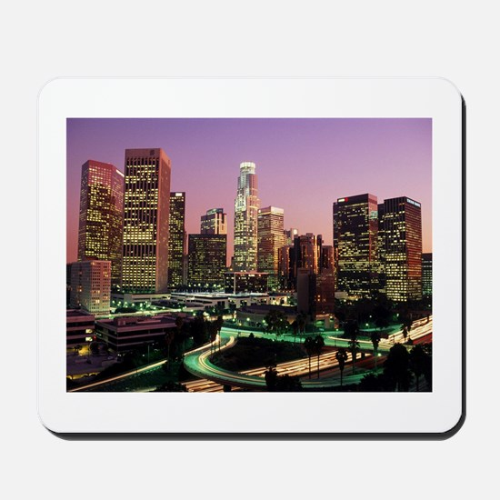 Los Angeles Night Lights Mousepad