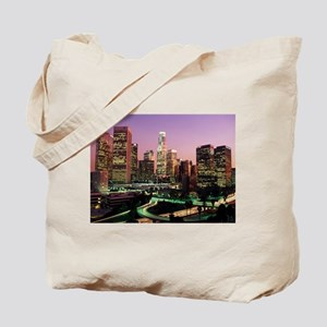 Los Angeles Night Lights Tote Bag
