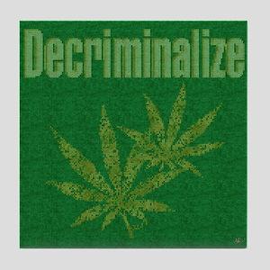 Decriminalize Tile Coaster