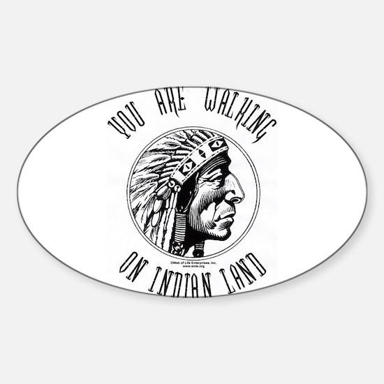Walking on Indian Land Logo Rectangle Decal