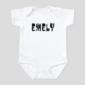 Emely Faded (Black) Infant Bodysuit