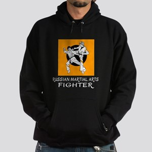 Russian Martial Arts Fighter Designs Hoodie (dark)