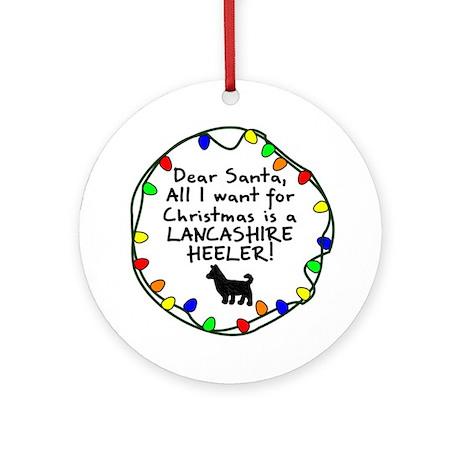Dear Santa Lancashire Heeler Christmas Ornament