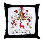 Hirschberg Family Crest Throw Pillow