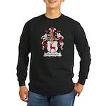 Hirschberg Family Crest Long Sleeve Dark T-Shirt