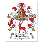 Hirschberg Family Crest Small Poster