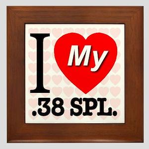 I Love My .38 SPL. Framed Tile