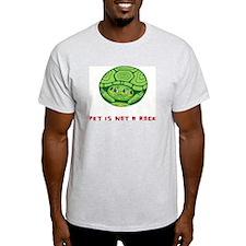 Pet Is Not a Rock Logo Light T-Shirt