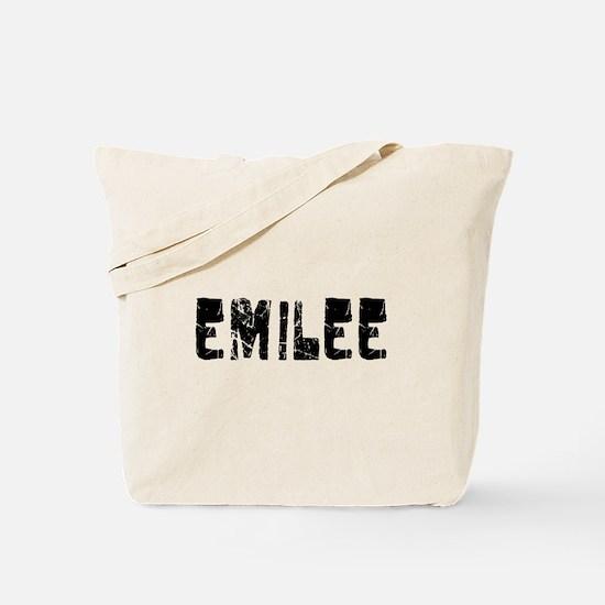Emilee Faded (Black) Tote Bag