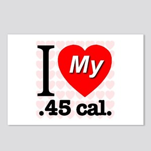 I Love My .45 cal. Postcards (Package of 8)