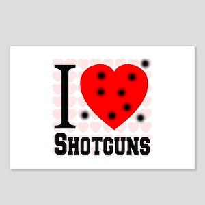 I Love Shotguns Postcards (Package of 8)
