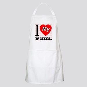 I Love My 9 mm. BBQ Apron
