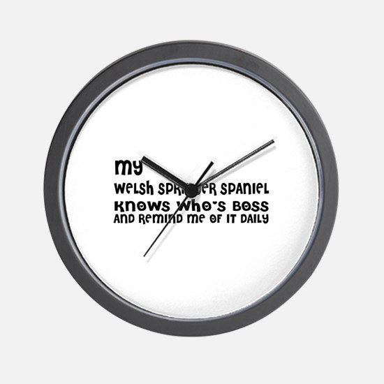 My Welsh Springer Spaniel Dog Designs Wall Clock