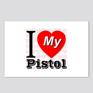 I Love My Pistol Postcards (Package of 8)