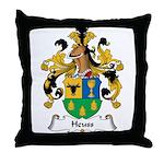 Heuss Family Crest Throw Pillow