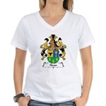 Heuss Family Crest Women's V-Neck T-Shirt