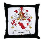 Hertell Family Crest Throw Pillow