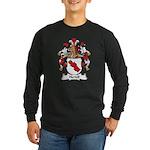 Hertell Family Crest Long Sleeve Dark T-Shirt