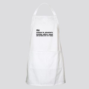 My Sussex Spaniel Dog Designs Light Apron