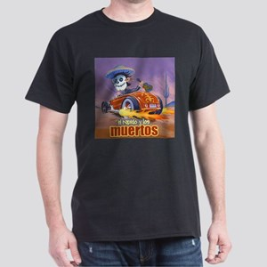 Rat Rod Day of the Dead ,Mariachi Dark T-Shirt