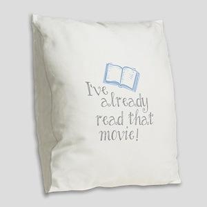 Read that movie Burlap Throw Pillow