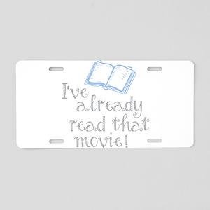 Read that movie Aluminum License Plate