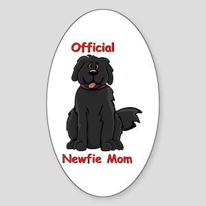 Newfie Mom Oval Sticker