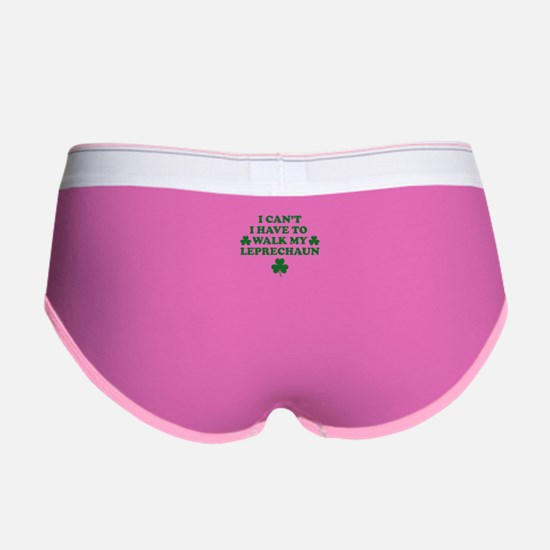 I Can't I Have To Walk My Leprec Women's Boy Brief
