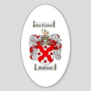 McFarland Family Crest Oval Sticker