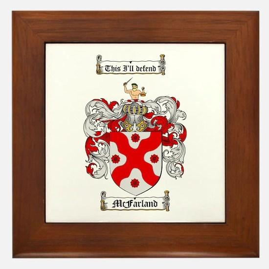 McFarland Family Crest Framed Tile