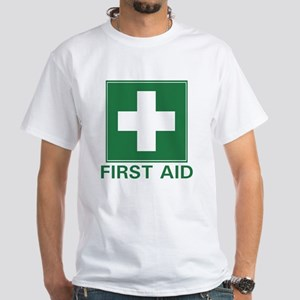 First Aid White T-Shirt