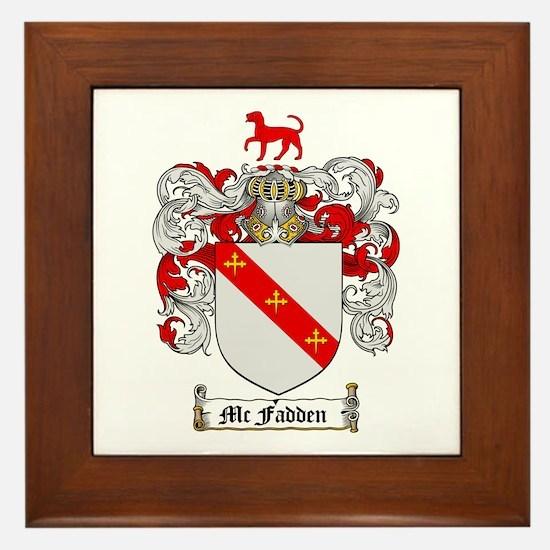 McFadden Family Crest Framed Tile