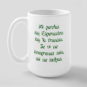 N'est pas de ma faute Large Mug