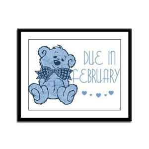 Blue Marbled Teddy Due In February Framed Panel Pr