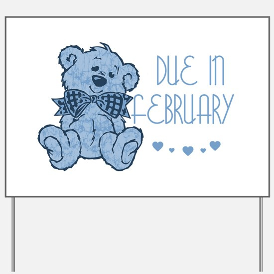 Blue Marbled Teddy Due In February Yard Sign
