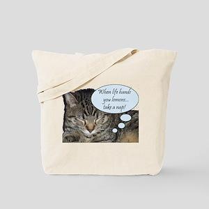 CAT NAP HUMOR Tote Bag