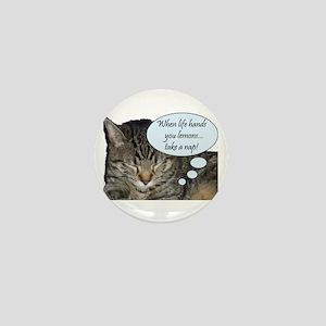 CAT NAP HUMOR Mini Button