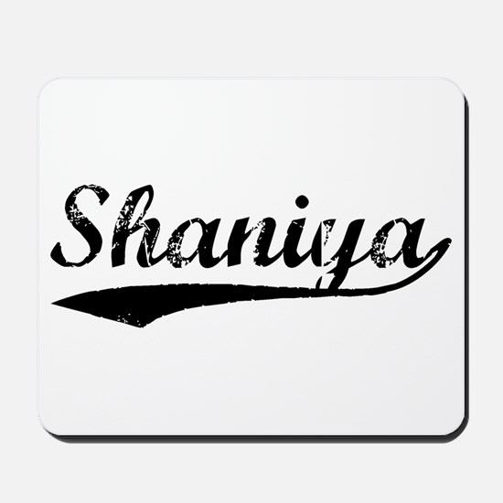Vintage Shaniya (Black) Mousepad