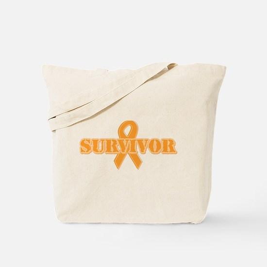 Orange Ribbon Survivor Tote Bag