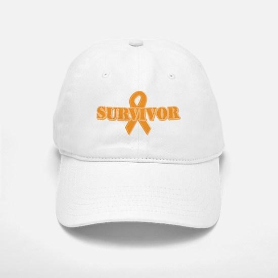 Orange Ribbon Survivor Baseball Baseball Cap